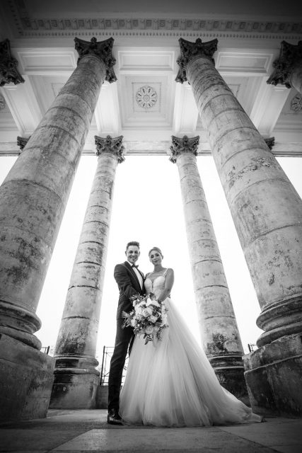Hochzeitsfotograf, Burgenland, Kärnten, Schloss Esterhazy, Esterhazy, Klagenfurt, Trauung, Wedding, Weddingphotography, Fine Art Wedding, Vintage, Porticus, Schlosspark, Leopoldinentempel